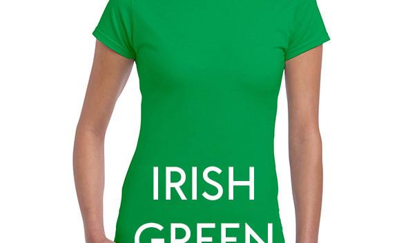 IRISH GREEN 64000L Ladies Tee