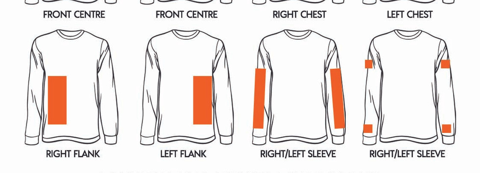 Where to print on Workwear 100% Combed Cotton Drill Long Sleeve Shirts