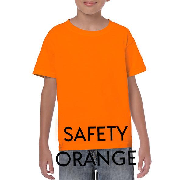 SAFETY ORANGE Youth T-shirts