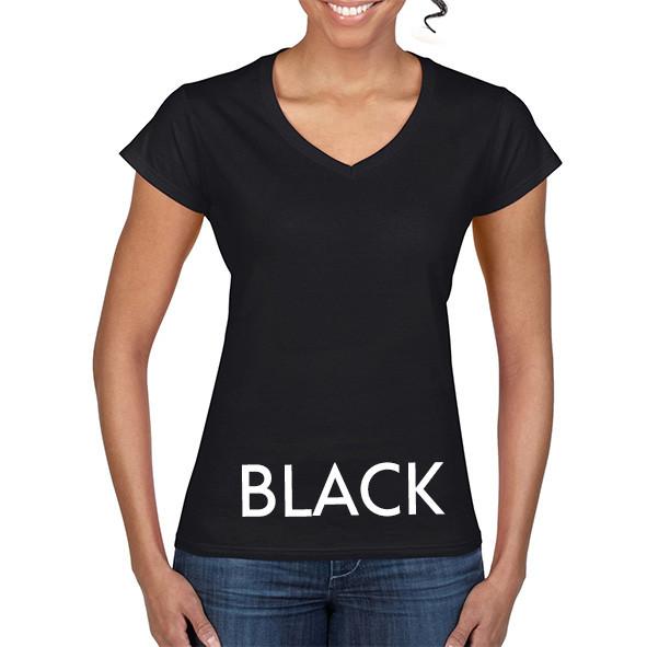 BLACK 64V00L Ladies V-NECK