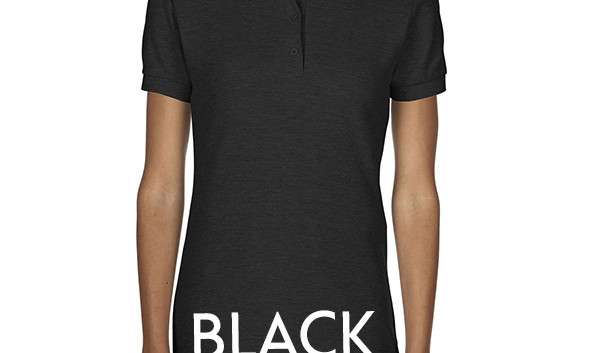 BLACK Ladies Polo Shirts