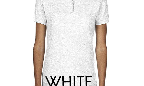 WHITE Ladies Polo Shirts