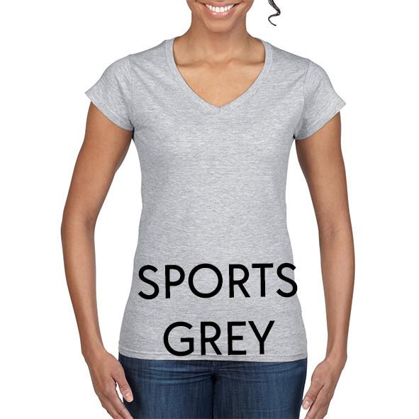 SPORTS_GREY 64V00L Ladies V-NECK