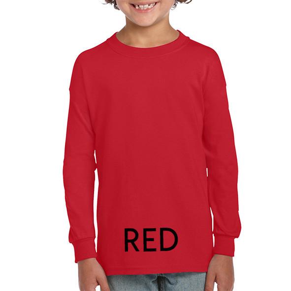 RED Youth Longsleeve Tees