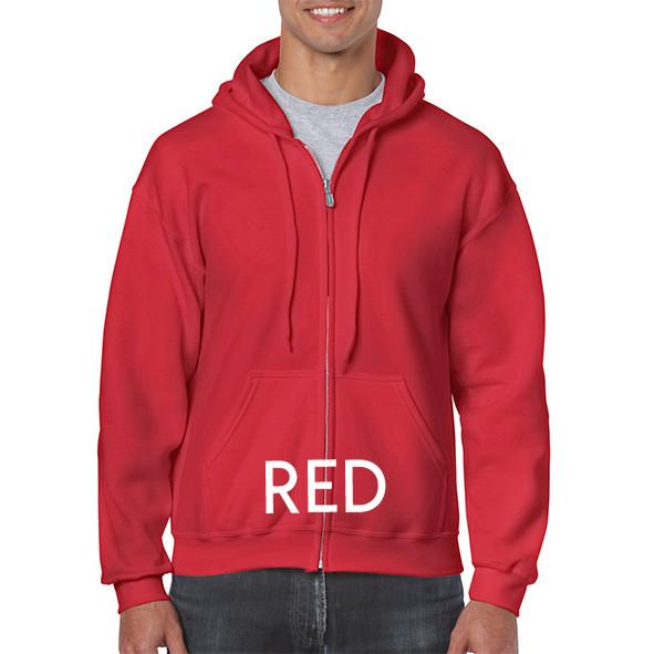 RED Zipup Hoodies