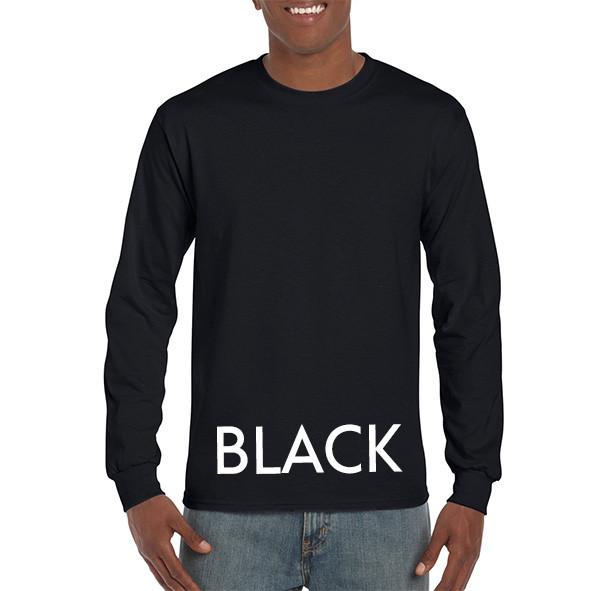 Black Printed Longsleeve T-shirts