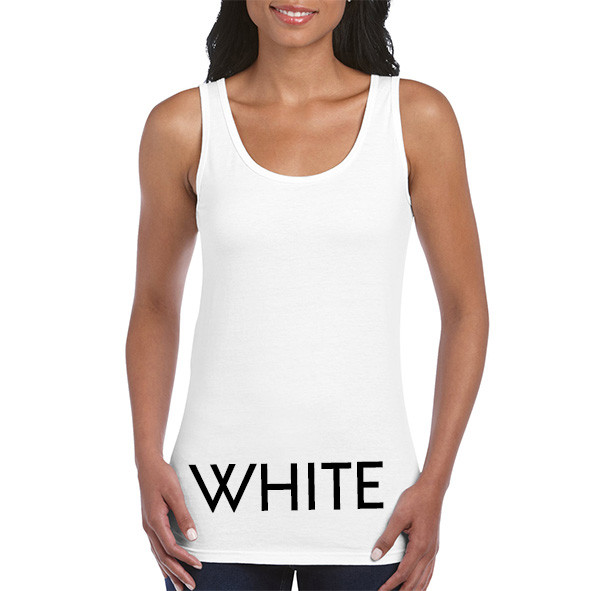 WHITE Ladies Tank Tops