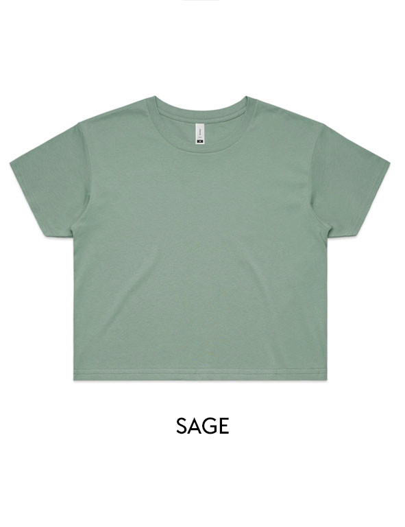 Sage - Printed AS Colour Women's Crop Tee