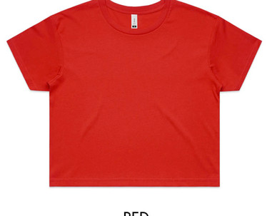 Red - AS Colour Crop Tee