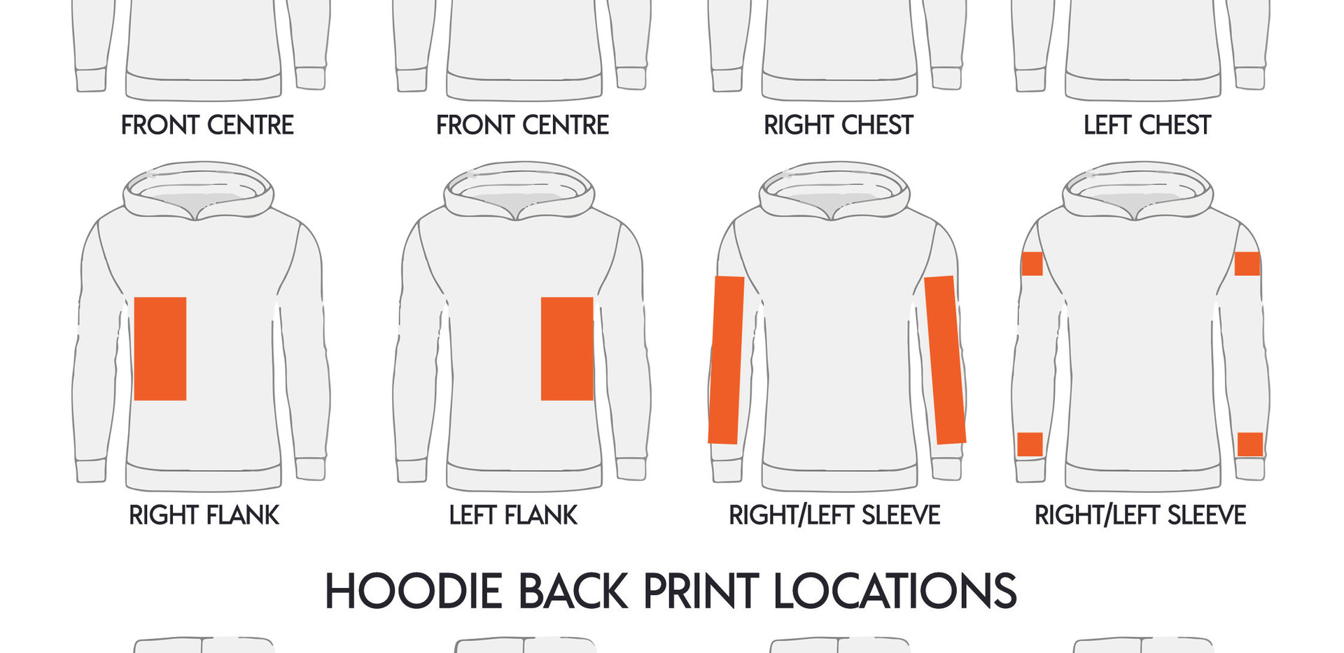 Where to print on a RAMO Ladies Hoodie
