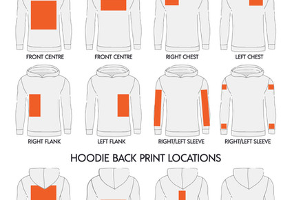 Custom Printed Locations for Hoodies