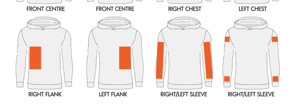 Custom Printed Locations for Hoodies
