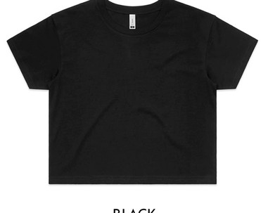 Black - AS Colour Crop Tee