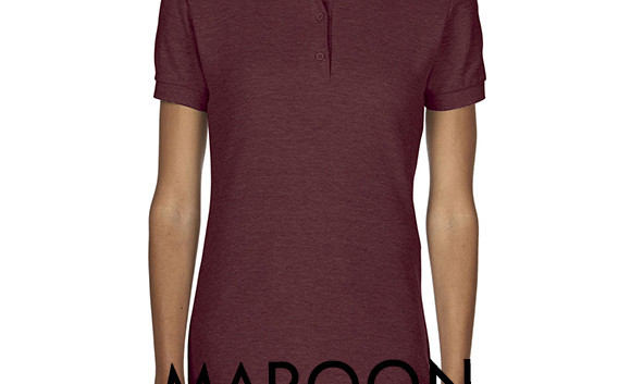 MAROON Ladies Polo Shirts