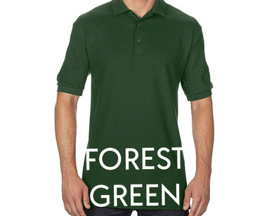 FOREST GREEN Custom Printed Polo Shirts