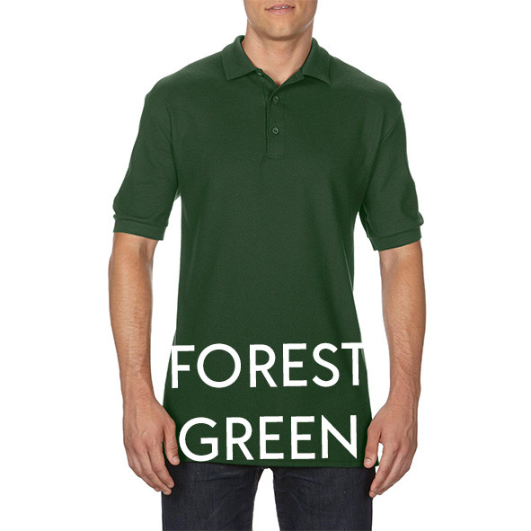 Forest Green Printed Polo Shirts