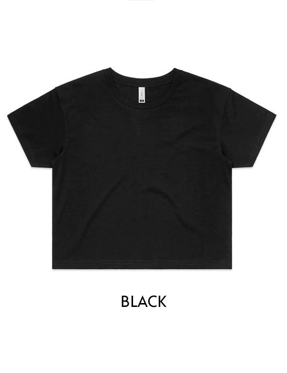 Black - Printed AS Colour Women's Crop Tee