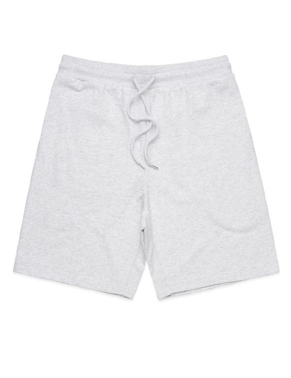 White Marl Printed Stadium Shorts