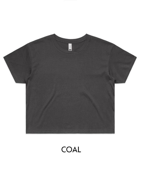 Coal - Printed AS Colour Women's Crop Tee