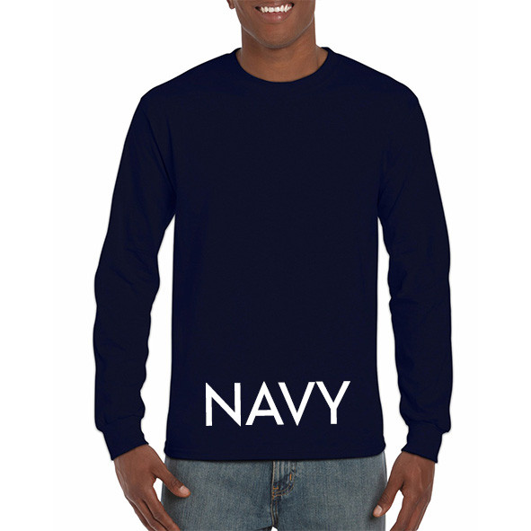 Navy Printed Longsleeve T-shirts