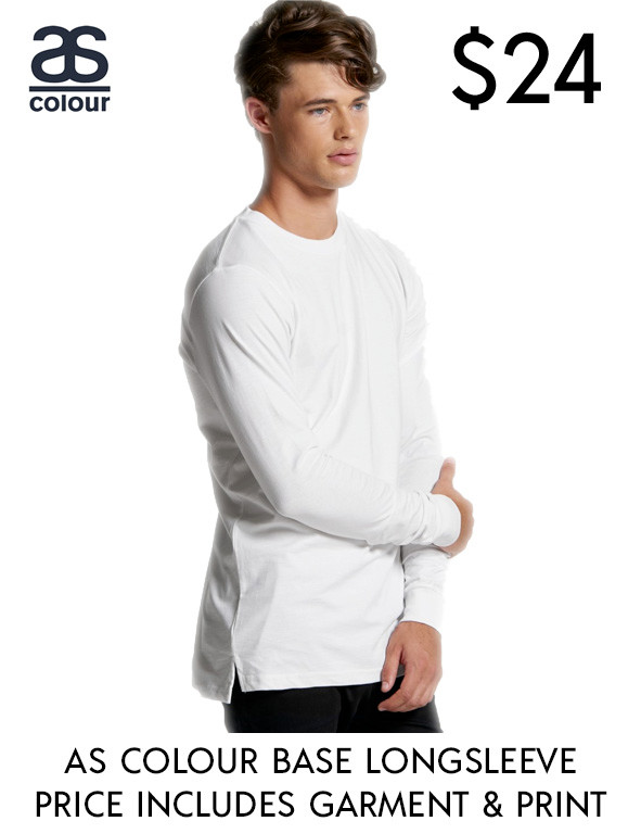 AS Colour 5029 best value custom printed long Base t-Shirts in Australia!