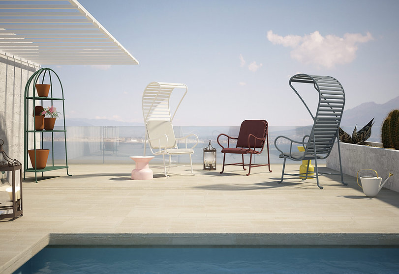 Vos Interieur, Barcelona Design, Gardenia armchair with pergola
