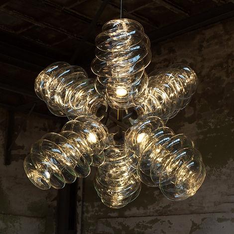 vos interieur, dirk vander kooij, Bloown chandelier