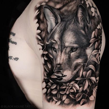 Tetování vlka / Wolf tattoo