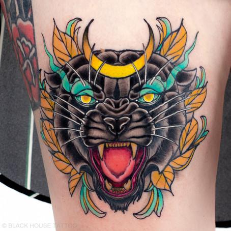 Černý panter tetování / Black panther tattoo