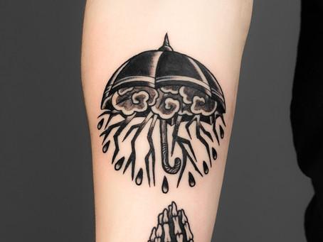 Deštník tetování / Umbrella tattoo