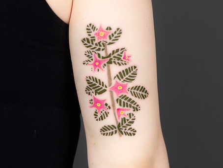 Květiny tetování / Flowers tattoo