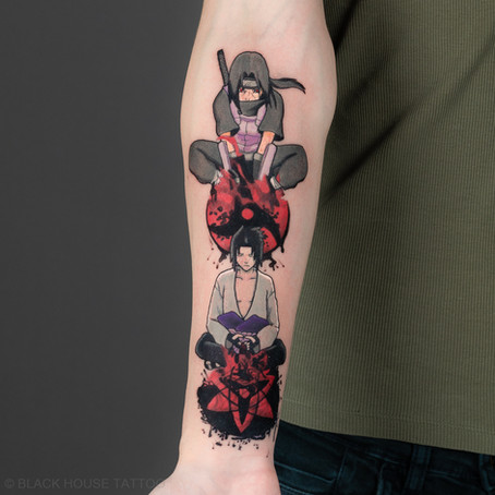 Anime / Sasuke Učiha tetování / Anime Sasuke Uchiha tattoo.
