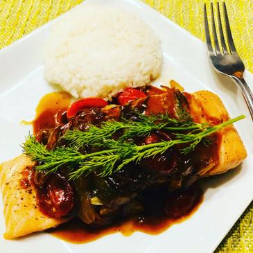 Oven-Baked Honey Salmon