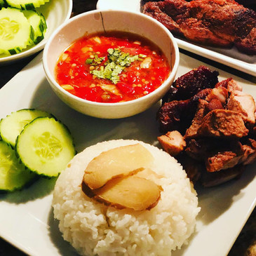 Chinese Roasted Pork with Ginger Rice