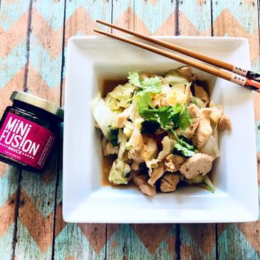 Stir-fry Cabbage with Chicken