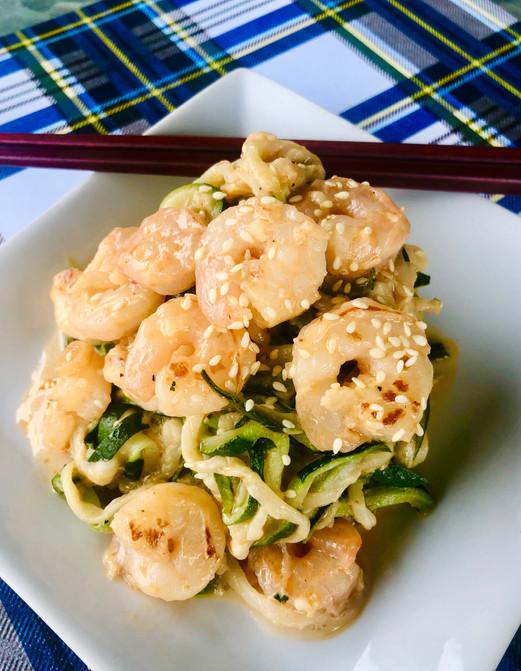 Sap Sap! Zucchini Noodles with Shrimp