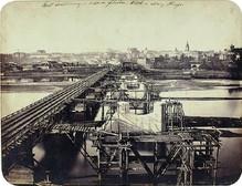 Warszawa most Kierbedzia 1862