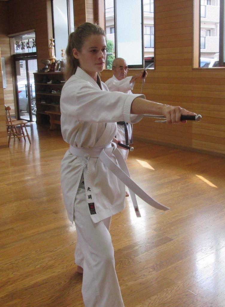 Practicing Sai, Ryukyu Kobudo Kongo-ryu