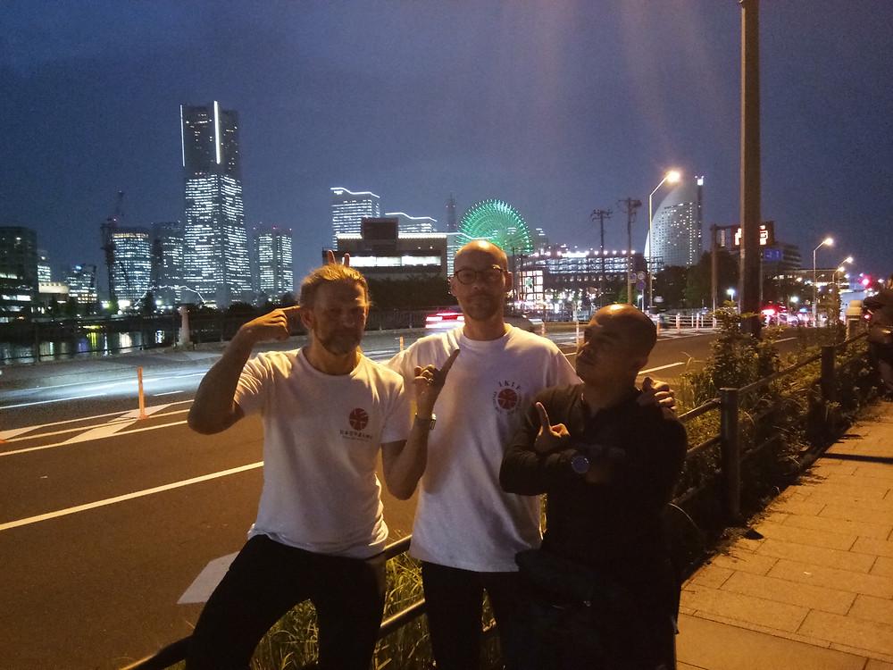 with Ryukyu Kobudo Kongo-ryu members at Yokohama