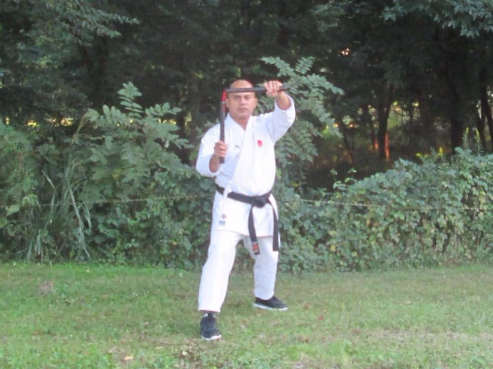 Ryukyu Kobudo Kongo-ryu nunchaku