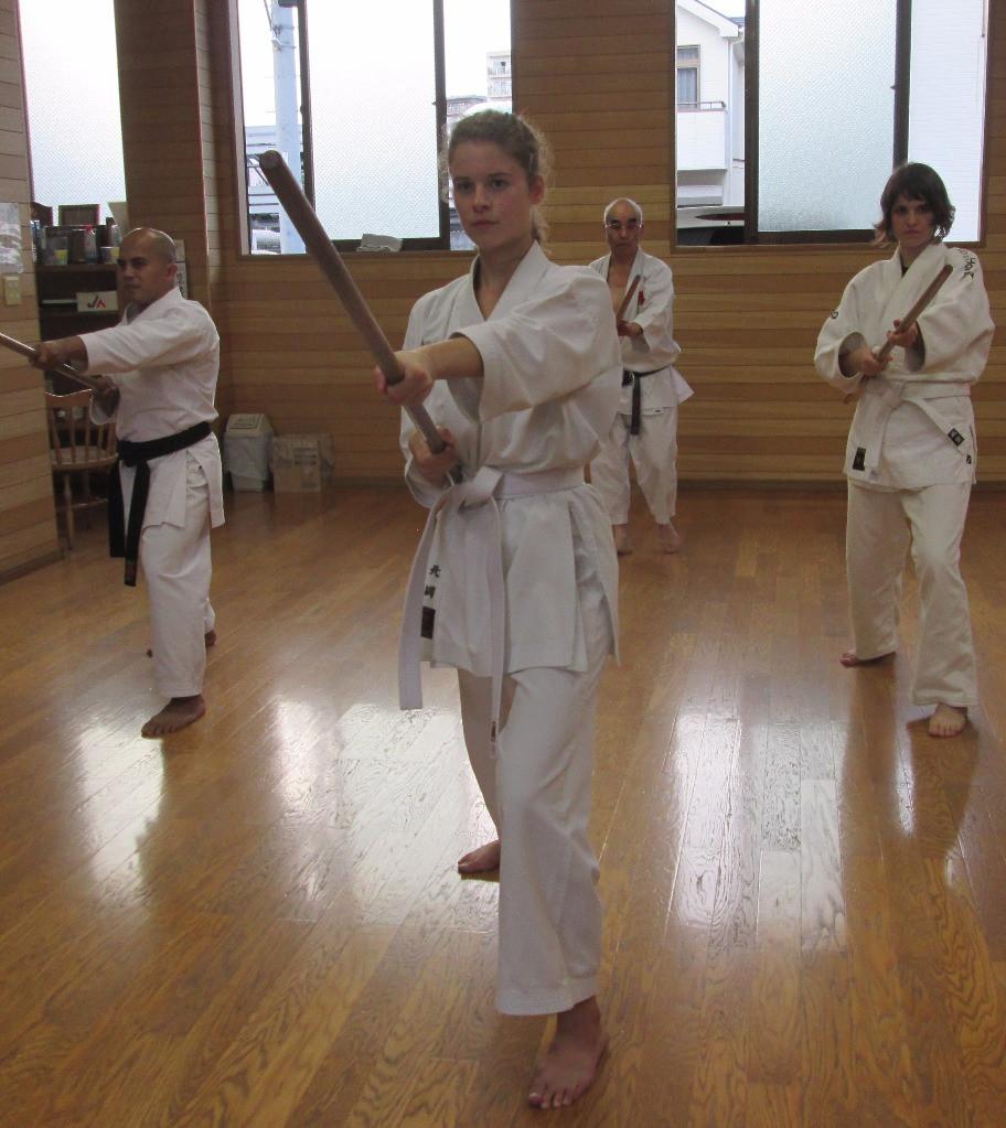 Practicing Bo, Ryukyu Kobudo Kongo-ryu
