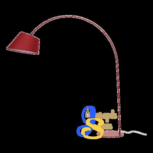LONG-NECKED Matt Red Floor Lamp