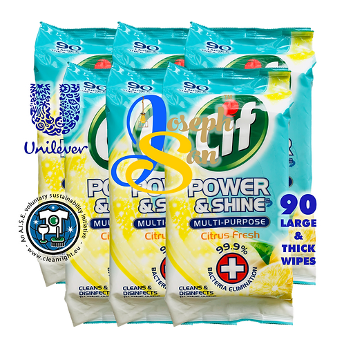 Cif Power & Shine Multi-Purpose Citrus Fresh  Wet Wipes [6-Pack]