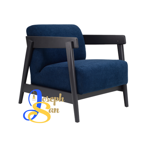 DAEWOOD Lounge Chair Midnight Blue Jersey