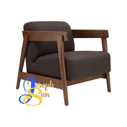 DAEWOOD Lounge Chair Dark Grey Cambric