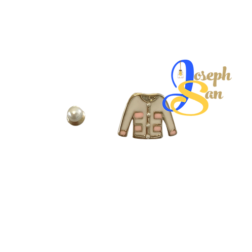 Lovable Pearl & Shirt Ear Studs
