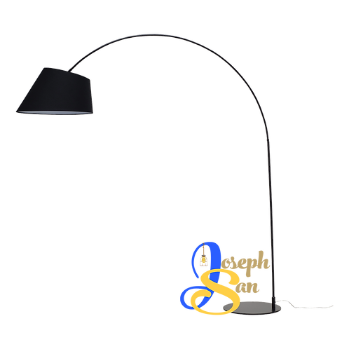 LONG-NECKED Matt Black Floor Lamp