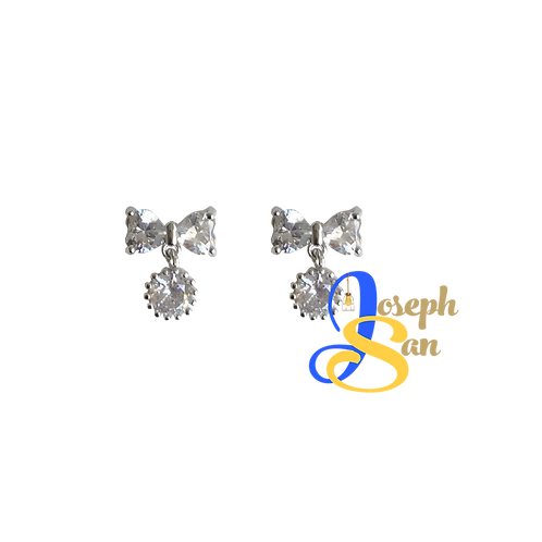 Zircon Diamond Creative Bow Ear Studs