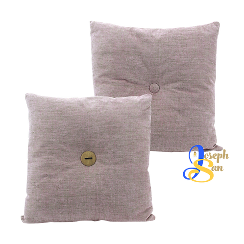 DISTINTIVO 450x450 Square Small Cushion Misty Rose