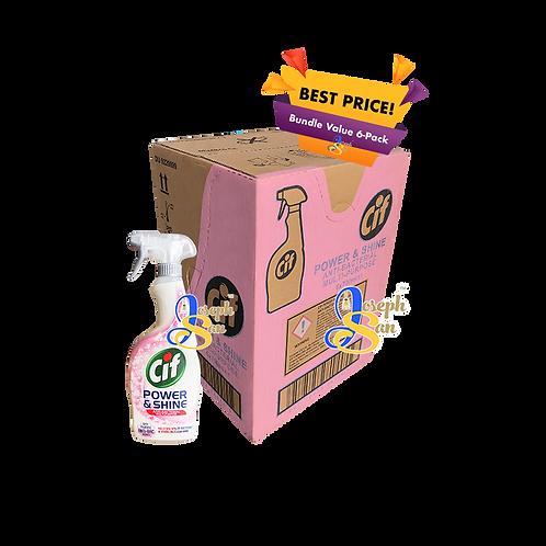 Cif Power & Shine Anti-Bacterial Multipurpose Spray [6 Bottles]